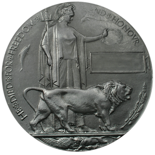 High quality official replica Memorial Death Plaque Of WWI for sale