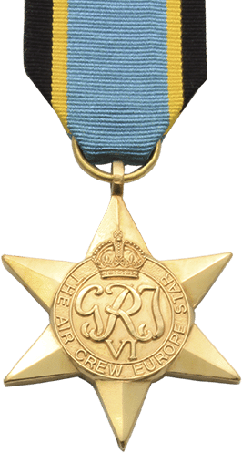 High quality official recplica Air Crew Europe Star Medal for sale