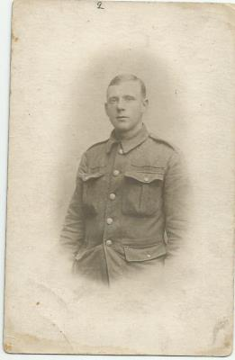 Frank Belton, 1/8th Battalion, Prince of Wales Own Regiment