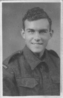 Frank Wilkinson, Private in the infantry of the Dorset regiment