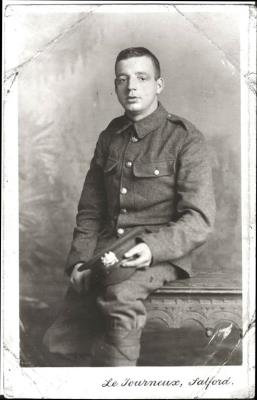 George Cousins, Private 13th Batt Manchester Regt/RE
