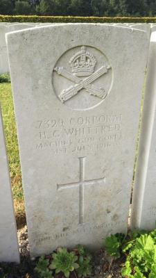 George Whittred, CPL Machine gun corps