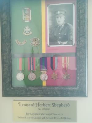Leonard H Shepherd, Pte1st Battalion Sherwood Foresters