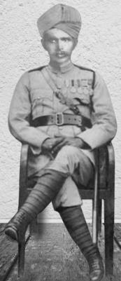 Muhammad  Zaman, Subadar in 123rd Outram's Rifles, 1st Battalion