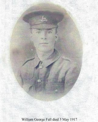 William George Fall, 1st Btn, Royal Warwickshire Regiment.  Pte 2448