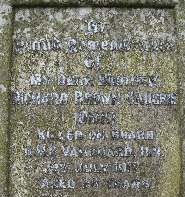 Richard Brown Caughie, Ord Smn - HMS Vanguard - 9.7.17 Sunk