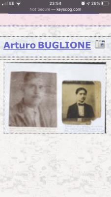 Arturo (Arthur) Buglione (baylone), Served ww1 1914 aged 22