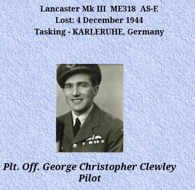 George  Clewley , Pilot officer 166 squadron