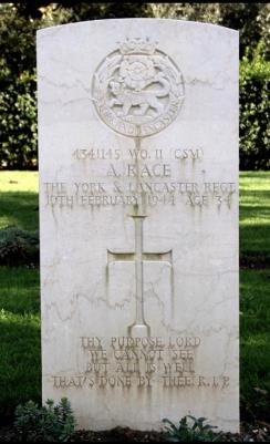 Alfred  Race , Csm York and Lancaster regiment ww2