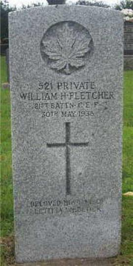 William Fletcher, Private 521 21st Battn C.E.F.