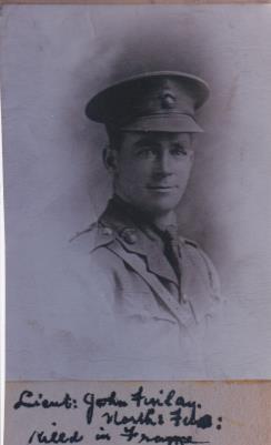 John Cuthbert Finlay, Captain, Northumberland Fusiliers, Tyneside Irish