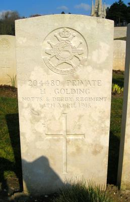 Henry Golding, Private 204480 Notts & Derby Regiment