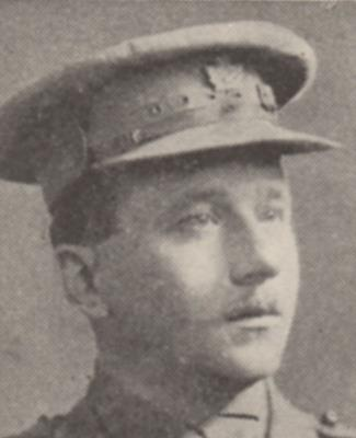 Frederick Travers Lucas, Major, Central Ontario Regiment, 54th Battalion. KIA: 01/03/1917