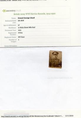 George E  lloyd, 27224 R W Kent regiment