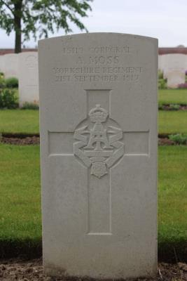 Arthur Moss, Corporal 15119, 9th Bn., Yorkshire Regiment