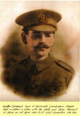 Walter Cammack, Private, 1st/5th Battalion, Sherwood Foresters (Nottinghamshire and Derbyshire Regiment)