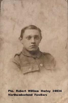 William Robert Harley, Private 20834 Northumberland Fusiliers C Company 13 Battalion