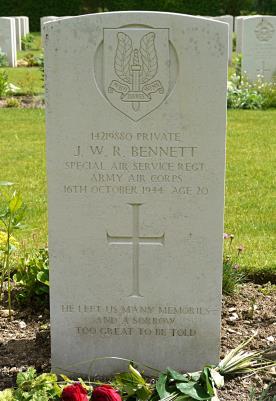 James bennet, Private / SAS Regiment