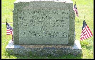 Felix Joseph  Altomare , Pvt. 6th marine division U.s.m.c
