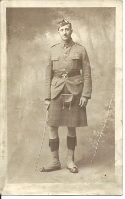 Andrew Kerr Henderson, Corporal, 1/9th Royal Scots Battalion.