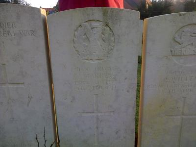 James Barber, Private, Tyneside Scottish Northumberland Fusiliers