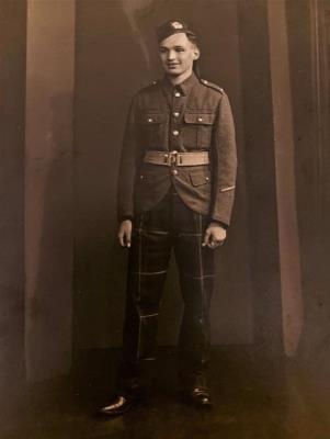 John Richard  Anthon, Private in the 6th Batallion Highland Light Infantry.