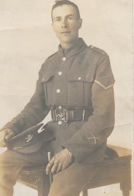 George Stevens, Machine Gun Corps, 37th Battalion, Corporal.