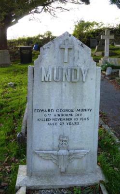 Edward George Mundy, T/63560  Driver, 250 (Airborne) Lt. Comp. Coy. Date of Death:10/11/1945. Aged 27