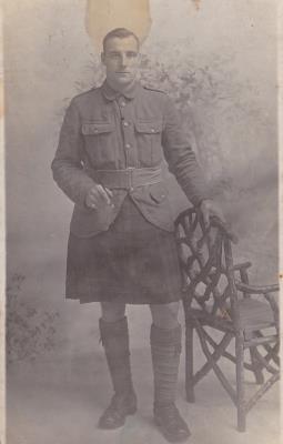 James Weir, Private Black Watch, Royal Highlanders, 7th Fife Battalion