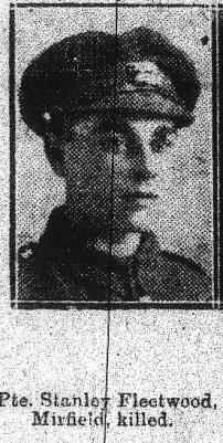 Stanley Fleetwood, Leicestershire Regiment.