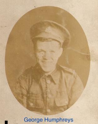 George Humphreys, no 8837 - Lance Corporal, 2nd Battalion, South Staffordshire Regiment