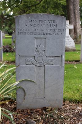 Alexander McCallum, 13438 Private 6th Battalion Royal Dublin Fusiliers
