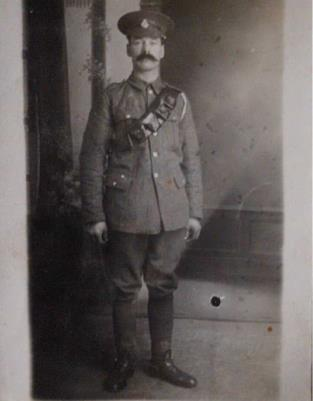 Alfred Bishop, Private S/43403 Seaforth Highlanders.