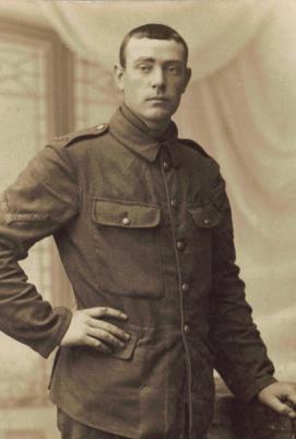 Frank Wheeler, L/7766 L/Cpl  with the East Kent Regiment
