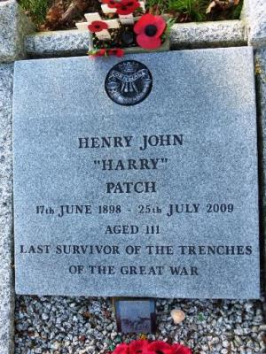 "Henry John ""Harry"" Patch, Private, 7th (Service) Battalion, Duke of Cornwall's Light Infantry"