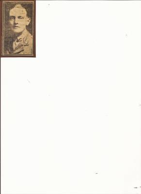 Cecil Weare, Captain  25th Battalion Canadian Infantry