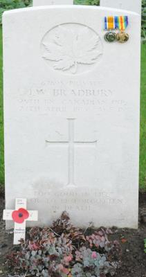 John William Bradbury, 25th Canadian Infantry