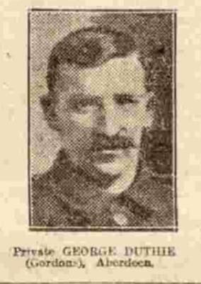 George Strachan Duthie, Private, No 203624, 2 Bn Gordon Highlanders