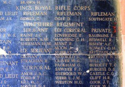 Alfred Bishop, Private 2393 2nd/4th Bn,Wiltshire Regiment