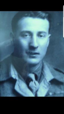 Edwin Warhurst, Service 14393855 in the Border Regiment.