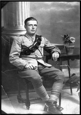 Edwin Dykes, Private in Herefordshire Regiment - Aug 1914 - Apr 1919