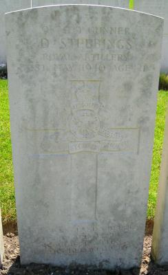 Douglas Stebbings, 937409, 74 Field Regiment, Royal Artillery