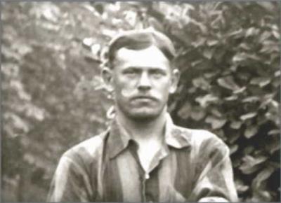 Arthur Bradley, Sergeant, Military number 7731, 1st Northamptonshire Regiment.