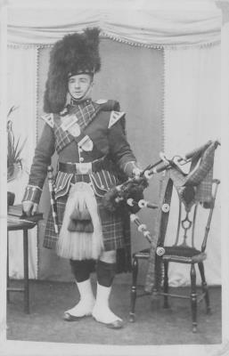 William Bradley, Piper, The Black Watch, WW1