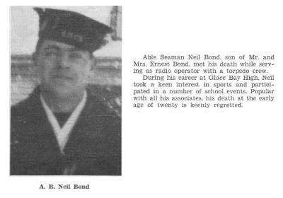 Neil Archie Bond, R.C.N.V.R.: Her Majesty's Canadian Motor Torpedo Boat 461 14 Feb ,1945