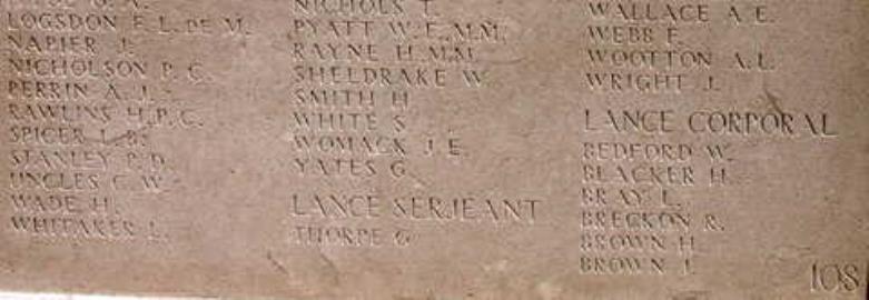 Robert Edward Breckon, Lance Corporal. 14008. King's Own Yorkshire Light Infantry