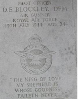 David Ellis Blockley DFM, 175588 Pilot Officer 76 Squadron RAF