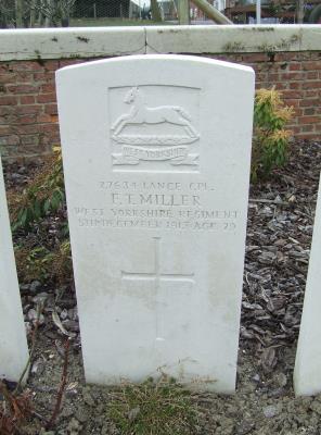 Frank  Thomas Miller, Lance Cpl, West Yorkshire Regiment, Service Number 27634