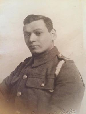 Albert Randle, Royal Sussex Regiment and regimental numbers 4617, 152796 , Labour Corps/Guardsman