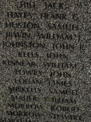 William John Kinnear, Rifleman, Private, 8th Battalion, Royal Irish Rifles, Service Number 15076.